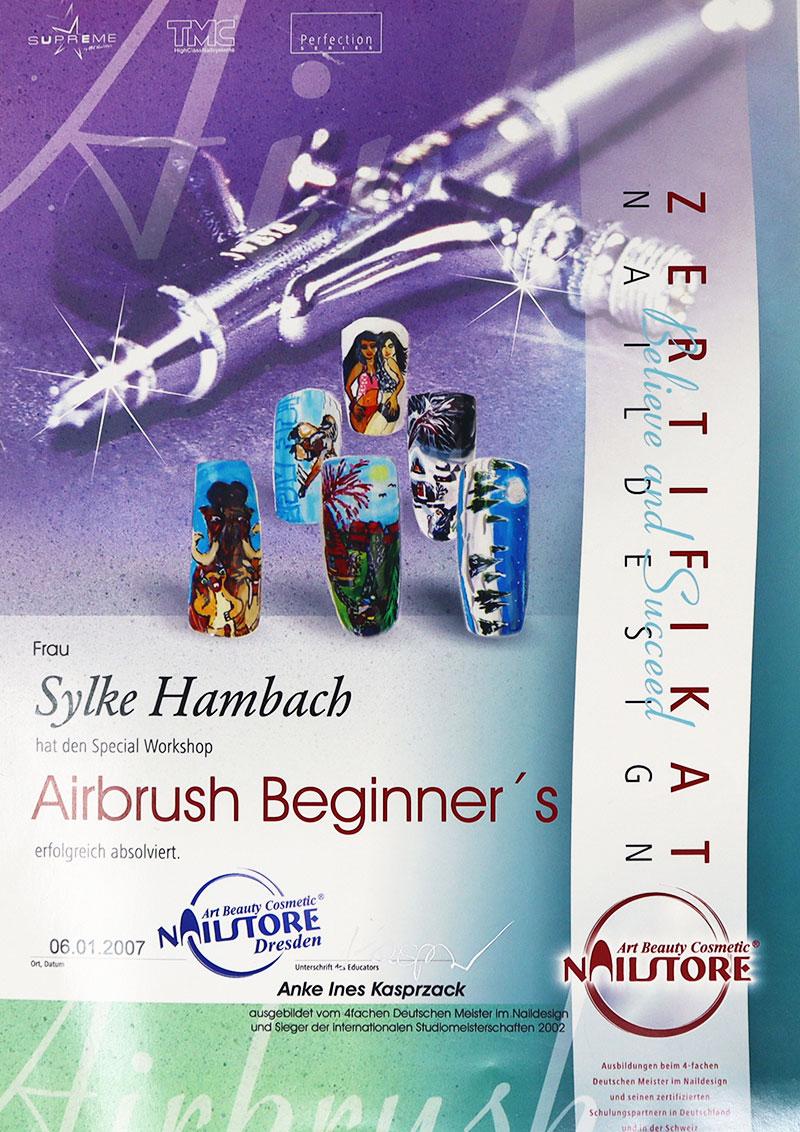 Zertifikat Airbrush