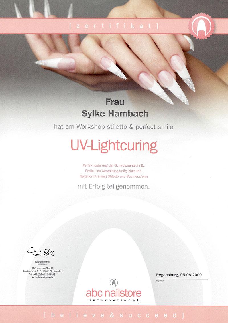 Glitter & Glamour | Zertifikat UV-Lightcuring